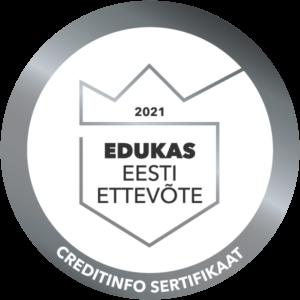 Edukas Eesti ettevõte 2021 sertifikaat